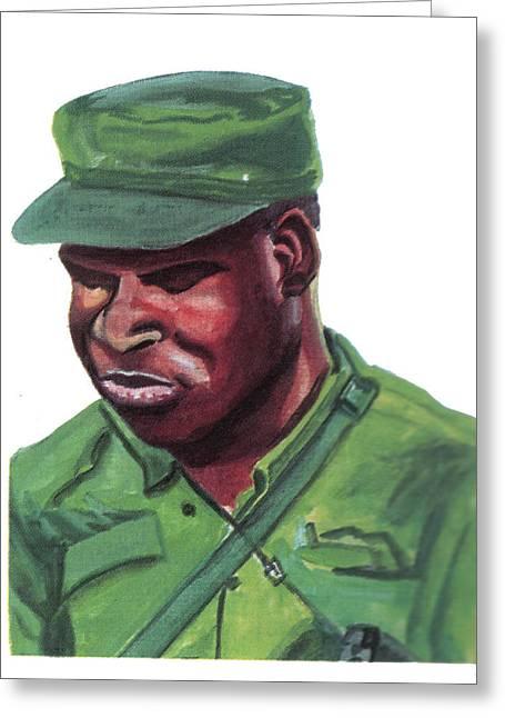 Liberation Drawings Greeting Cards - Eduardo Mondlane Greeting Card by Emmanuel Baliyanga