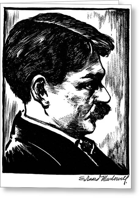 Autograph Greeting Cards - EDWARD ALEXANDER MacDOWELL Greeting Card by Granger