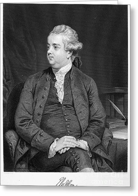Edward Gibbon Greeting Cards - Edward Gibbon (1737-1794) Greeting Card by Granger