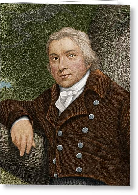 Doctor J Greeting Cards - Edward Jenner, British Doctor Greeting Card by Maria Platt-evans