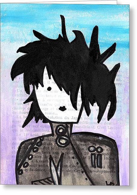 Scissors Greeting Cards - Edward Scissorhands Greeting Card by Jera Sky