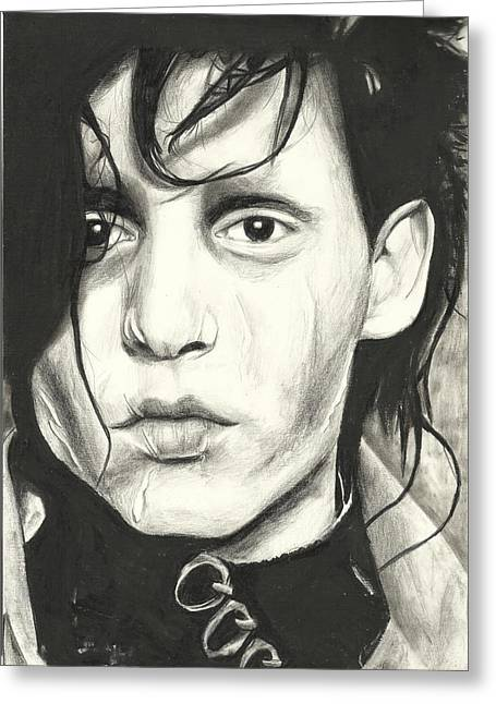 Burton Drawings Greeting Cards - Edward Scissorhands Greeting Card by Sarah Stonehouse