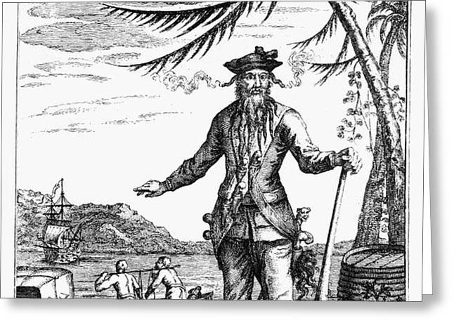 EDWARD TEACH (?-1718) Greeting Card by Granger