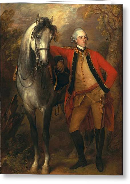 Redcoat Greeting Cards - Edward Viscout Ligonier Greeting Card by Thomas Gainsborough