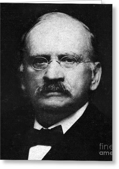 Morley Greeting Cards - Edward W. Morley 1907 Nobel Prize Greeting Card by Science Source