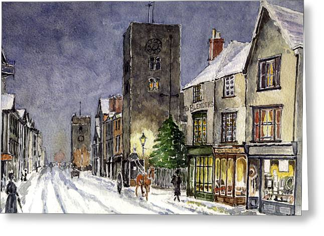 Christs Birthday Greeting Cards - Edwardian Oxford Greeting Card by Mike Lester