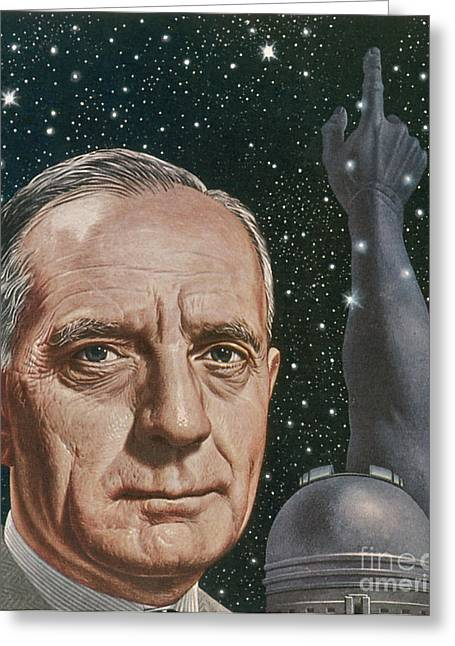 Expanding Light Greeting Cards - Edwin Hubble American Astronomer Greeting Card by Science Source