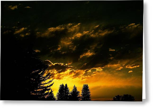 Sunset Framed Prints Greeting Cards - Eerie Evening Greeting Card by Kevin Bone