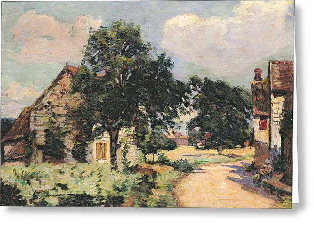 Effect Greeting Cards - Effect of the Sun Greeting Card by Jean Baptiste Armand Guillaumin