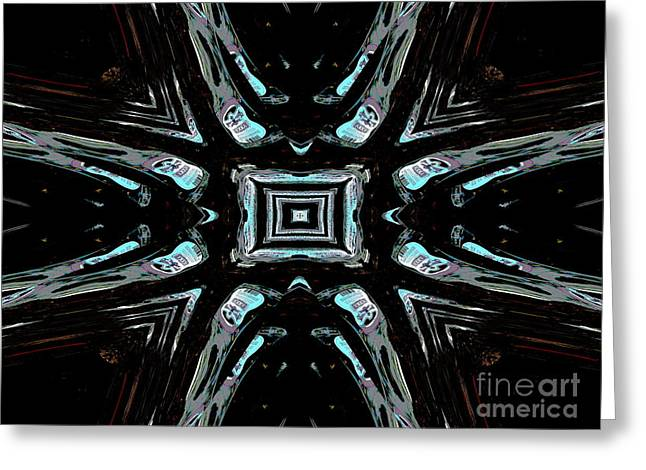 Hallucination Greeting Cards - Effects of Vodka blue and silver Greeting Card by Renee Trenholm