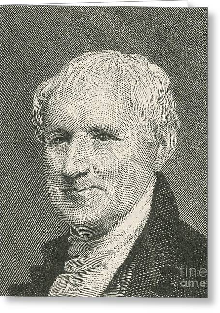 U S Founding Father Greeting Cards - Egbert Benson Greeting Card by Photo Researchers