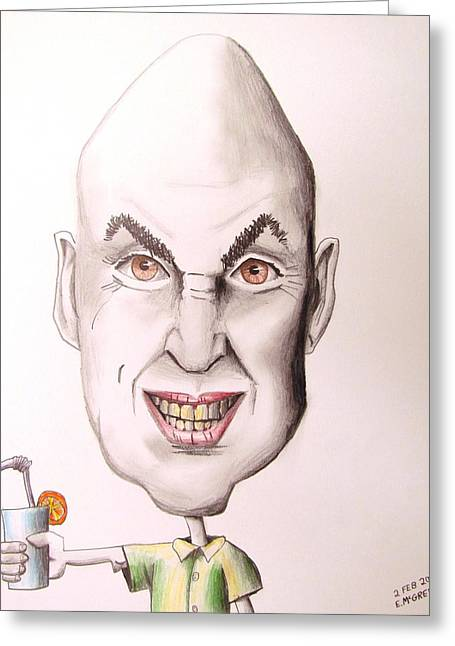 Eggheads Greeting Cards - Egghead on Vacation Greeting Card by Eric McGreevy
