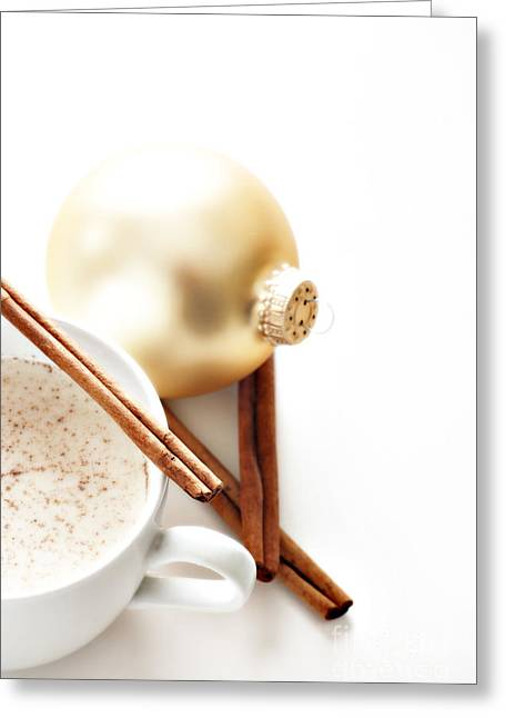 Egg-cup Greeting Cards - Eggnog Greeting Card by HD Connelly