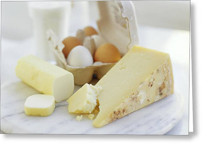 Eggs And Cheese Greeting Card by David Munns