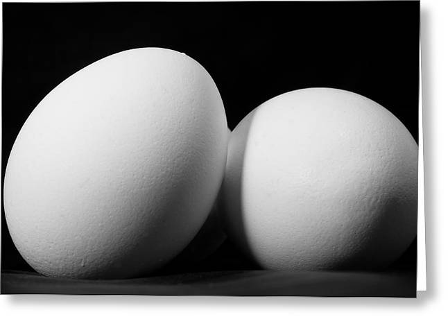 Egg Greeting Cards - Eggs in Black and White Greeting Card by Lori Coleman