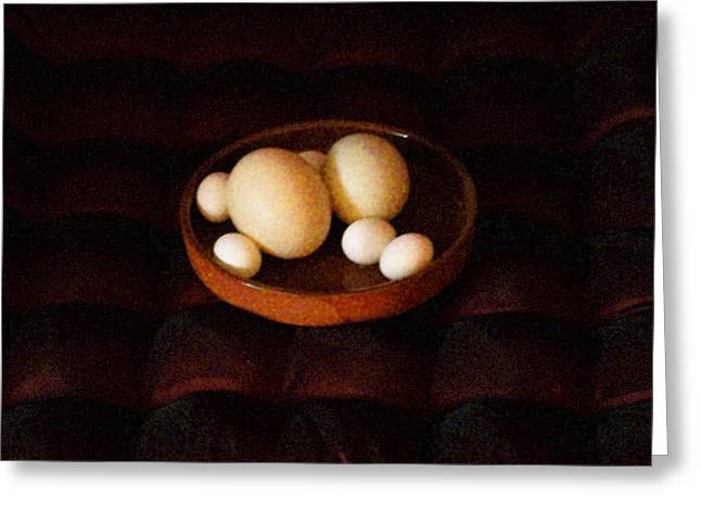 Yomamabird Rhonda Greeting Cards - Eggs Greeting Card by YoMamaBird Rhonda