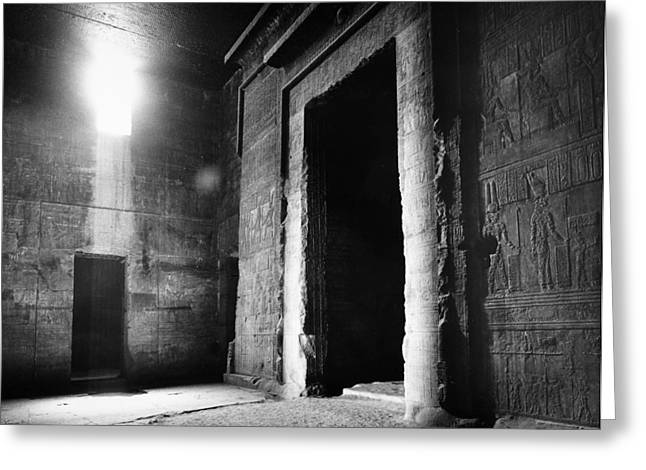 Hathor Greeting Cards - Egypt: Dendera: Temple Greeting Card by Granger