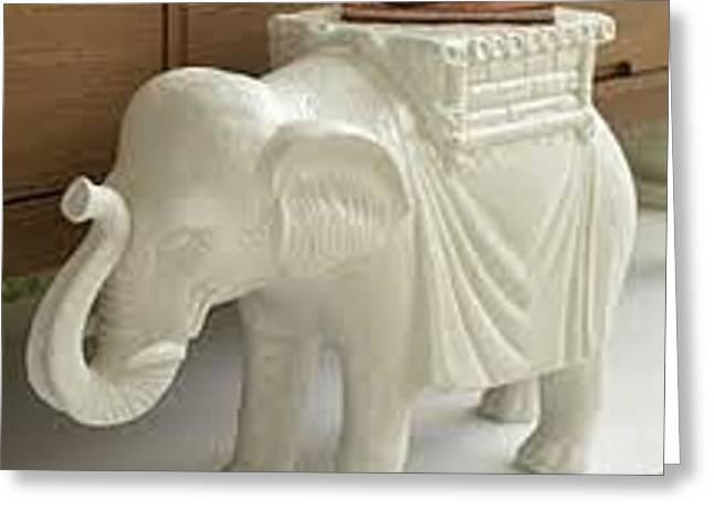 Elephant Ceramics Greeting Cards - Egypt Elephant Greeting Card by Mochamad Gunarko