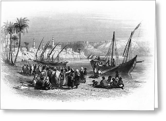 Slaves Greeting Cards - Egypt: Slave Boat Greeting Card by Granger