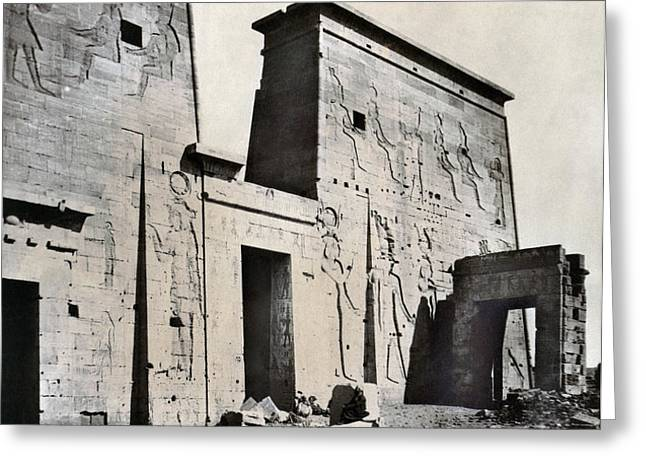 EGYPT: TEMPLE OF ISIS Greeting Card by Granger
