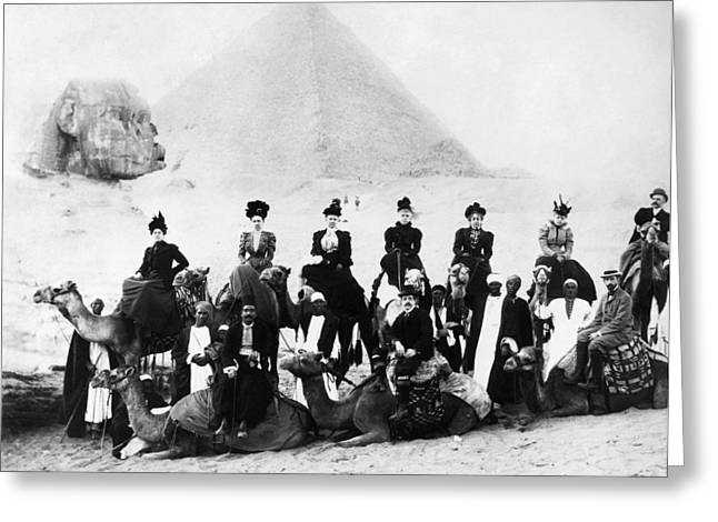 1890s Greeting Cards - EGYPT: TOURISTS, 1890s Greeting Card by Granger