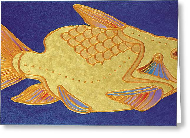 Imagined Realism Greeting Cards - Egyptian Fish Greeting Card by Bob Coonts