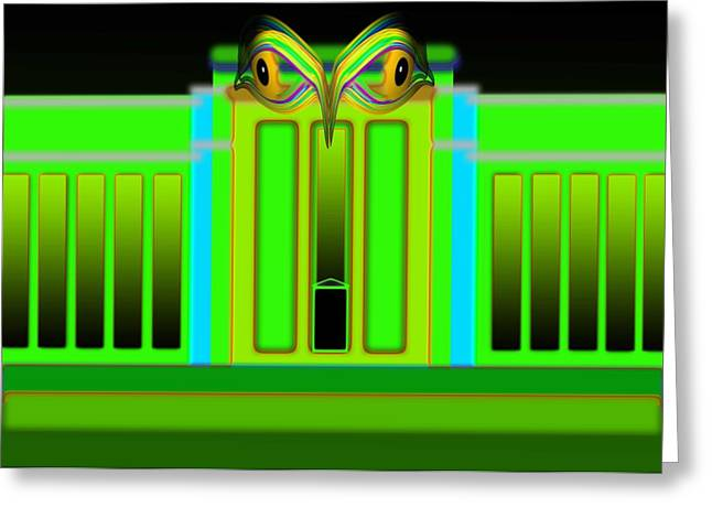 Fed Digital Greeting Cards - Egyptian Green Greeting Card by Charles Stuart