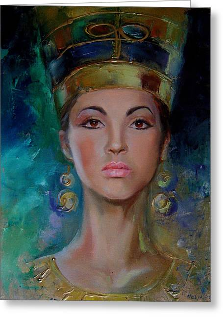 Dance Ballet Roses Paintings Greeting Cards - Egyptian Princess Greeting Card by Nelya Shenklyarska