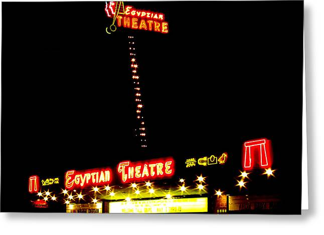 Egyptian Theatre Greeting Cards - Egyptian Theatre in Coos Bay Oregon Greeting Card by Gary Rifkin