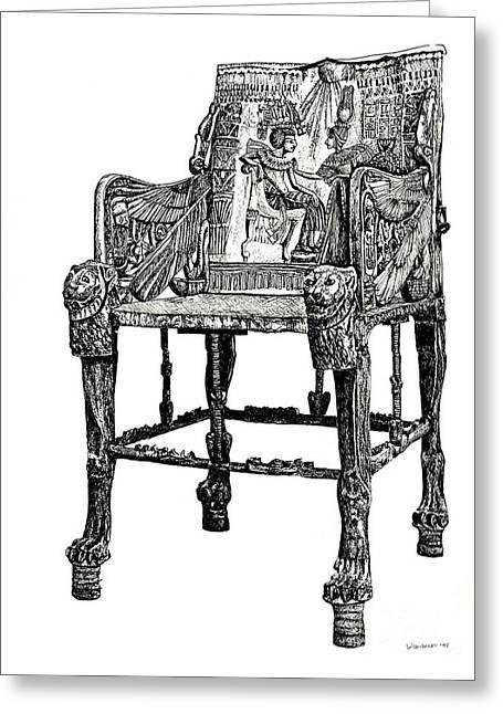 Egyptian Throne Greeting Card by Adendorff Design