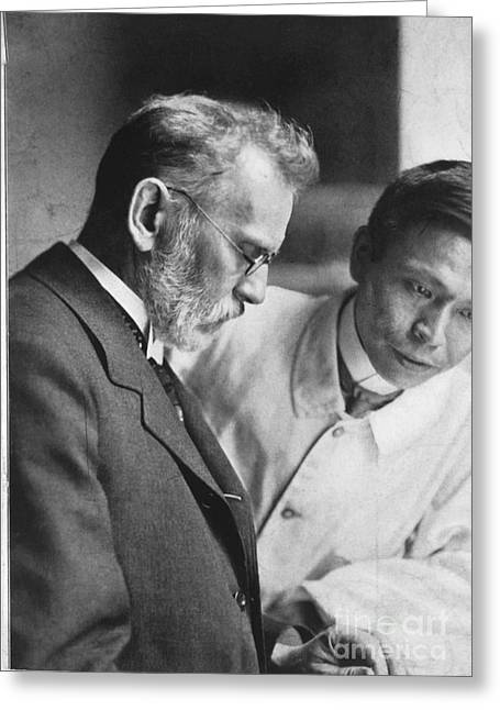 Ehrlich And Hata, Discovered Syphilis Greeting Card by Science Source