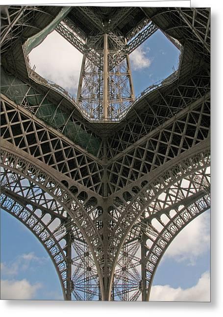 Grillwork Greeting Cards - Eiffel Grillwork Greeting Card by Kent Sorensen