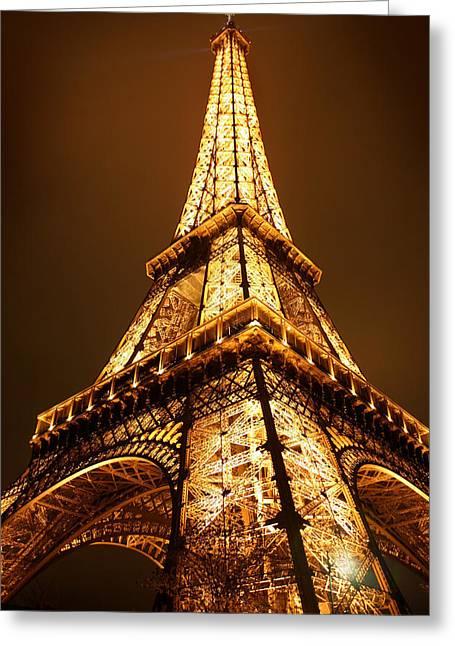 Eiffel Tower Greeting Cards - Eiffel Greeting Card by Skip Hunt
