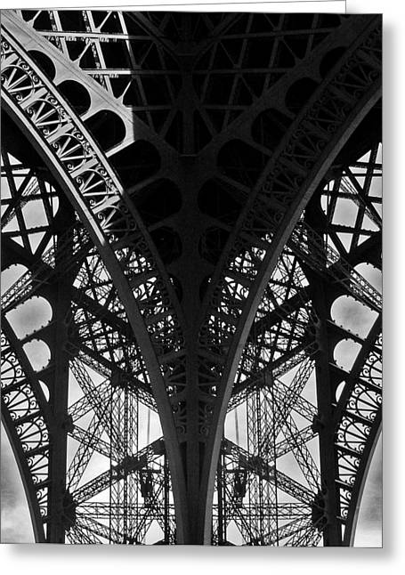 Eifel-tower Greeting Cards - Eiffel Tower - Paris Greeting Card by Juergen Weiss