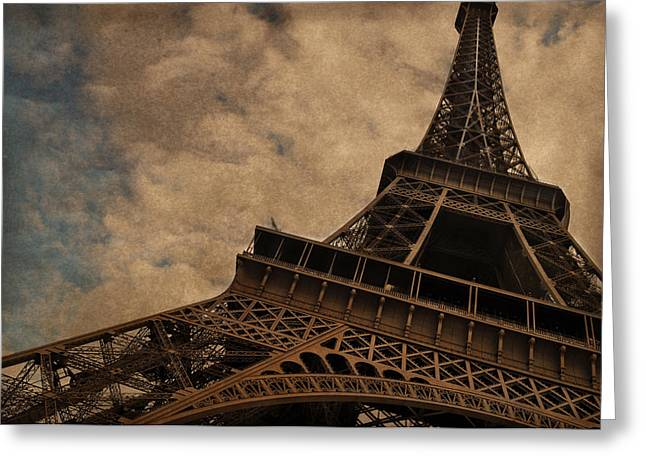 Paris Greeting Cards - Eiffel Tower 2 Greeting Card by Mary Machare