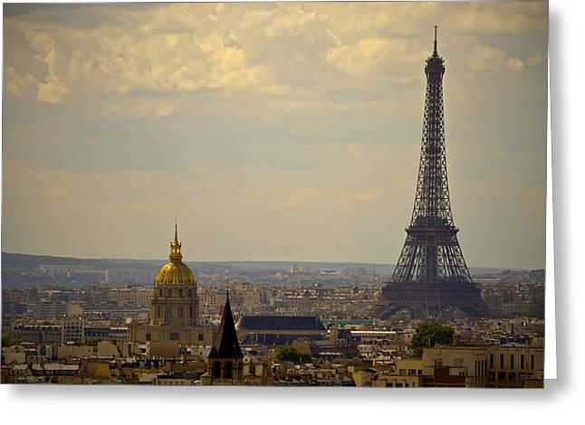 Adam West Greeting Cards - Eiffel Tower Greeting Card by Adam West