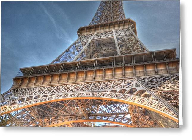 Village By The Sea Greeting Cards - Eiffel Tower Greeting Card by Barry R Jones Jr