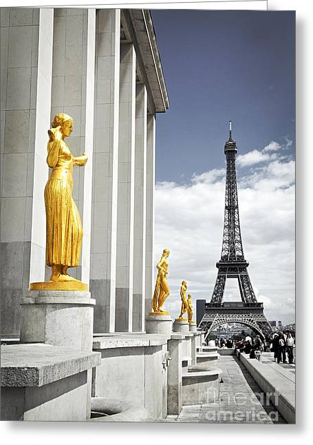 Eiffel Tower From Trocadero Greeting Card by Elena Elisseeva