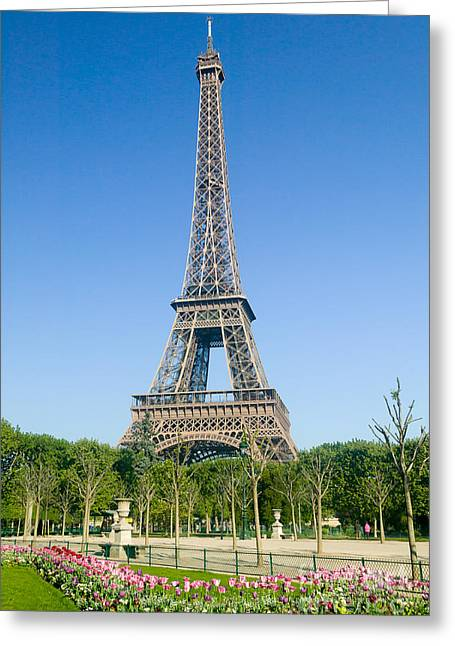 Champs Greeting Cards - Eiffel Tower in Spring IV Greeting Card by Clarence Holmes