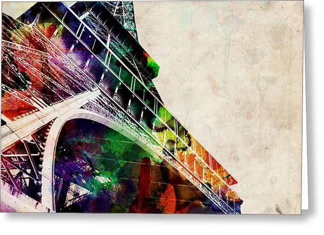 Eiffel Tower Greeting Card by Michael Tompsett