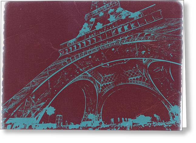 Parisian Greeting Cards - Eiffel Tower Greeting Card by Naxart Studio