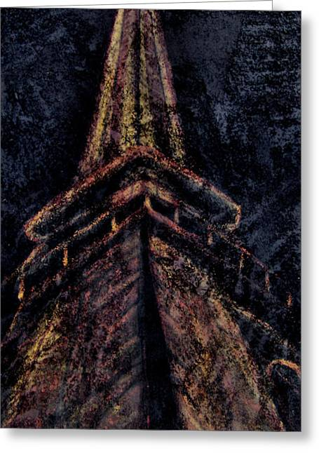 Side View Mixed Media Greeting Cards - Eiffel Tower Paris France Greeting Card by Michelle Iglesias