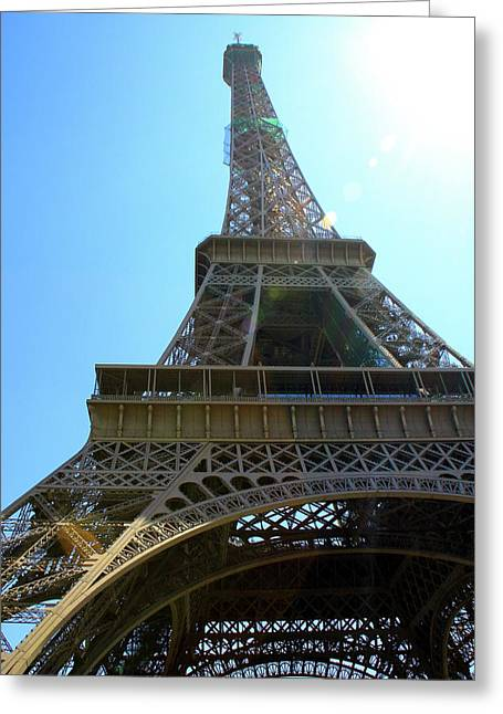 Freelance Photographer Photographs Greeting Cards - Eiffel Tower Under The Spotlight Greeting Card by Kamil Swiatek