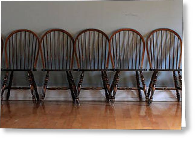 Windsor Chair Greeting Cards - Eighteen Chairs Greeting Card by Andrew Fare