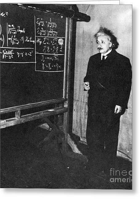 Physicist Greeting Cards - Einstein At Princeton University Greeting Card by Science Source