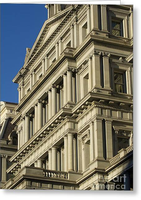 United States Capital Greeting Cards - Eisenhower Executive Office Building Washington DC Greeting Card by Dustin K Ryan