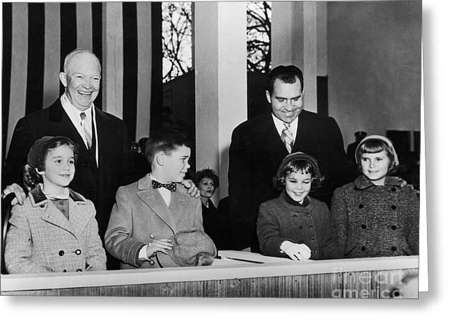Inauguration Greeting Cards - Eisenhower Inauguration Greeting Card by Granger