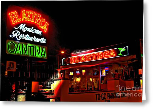 Photographers Conyers Greeting Cards - El Azteca Restaurant Greeting Card by Corky Willis Atlanta Photography
