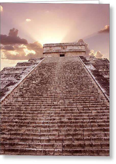 El Castillo Greeting Cards - El Castillo, Chichen Itza, Mexico Greeting Card by Tony Craddock
