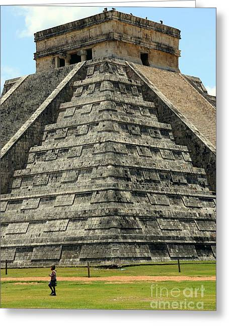 World Wonder Greeting Cards - El Castillo Chichen Itza Greeting Card by Sophie Vigneault